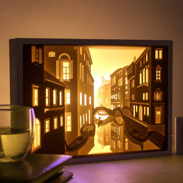 Papercut Light Boxes - Venice
