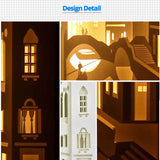 Share to Get 50% OFF ! Best Diy Project and Discount for Stay-at-home - Printed Pattern Template Files of Papercut Light Boxes, 901,Venice