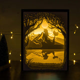 Papercut Light Boxes - Mermaid