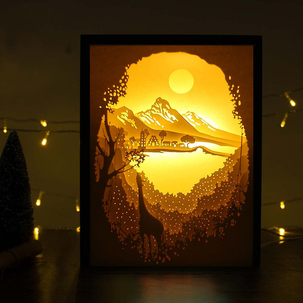 Share to Get 50% OFF ! Best Diy Project and Discount for Stay-at-home - Printed Pattern Template Files of Papercut Light Boxes,904,Shangri-la