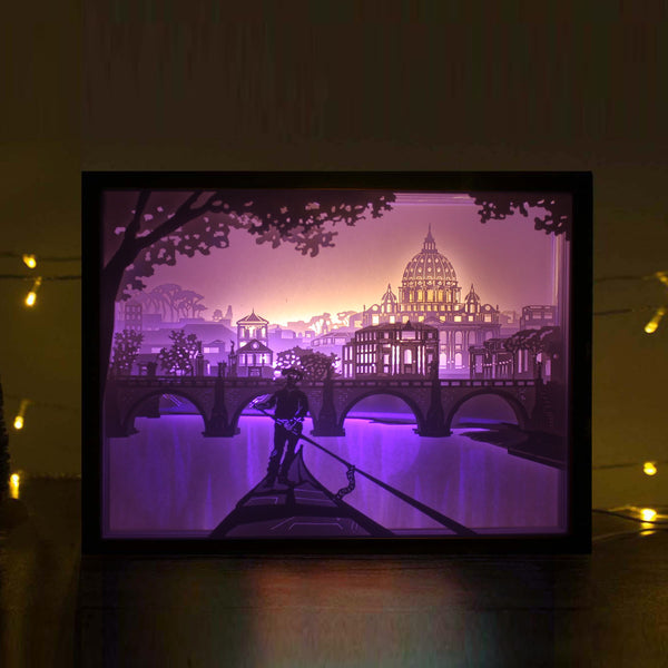 Papercut Light Boxes - Rome
