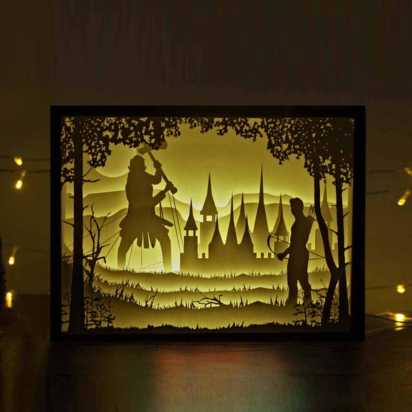 Papercut Light Boxes - The War of Archer and Giant