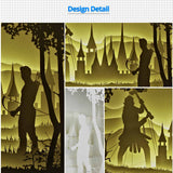 Share to Get 50% OFF ! Best Diy Project and Discount for Stay-at-home - Printed Pattern Template Files of Papercut Light Boxes,910,The War of Archer and Giant