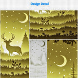 Share to Get 50% OFF ! Best Diy Project and Discount for Stay-at-home - Printed Pattern Template Files of Papercut Light Boxes,911,The Deer in The Deep Forest At Night