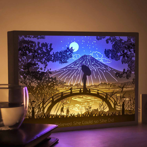 Vibes Genius 913US Papercut Light Boxes, Decor Light of 13 to 19 Years Old Teen Girl Style, Gift Idea for Sister, Daughter, Niece, Cousin, Quinceanera or Birthday