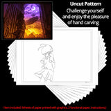 Share to Get 50% OFF ! Best Diy Project and Discount for Stay-at-home - Printed Pattern Template Files of Papercut Light Boxes,917,The Girl and The Whale