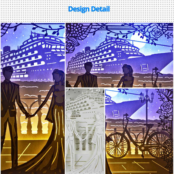 Share to Get 50% OFF ! Best Diy Project and Discount for Stay-at-home - Printed Pattern Template Files of Papercut Light Boxes,922,Wedding