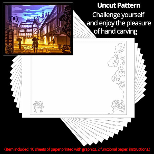 Share to Get 50% OFF ! Best Diy Project and Discount for Stay-at-home - Printed Pattern Template Files of Papercut Light Boxes,924,Lover