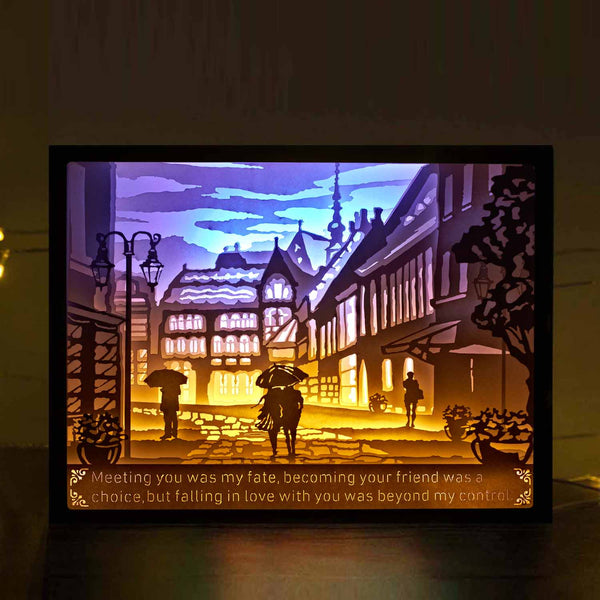 Vibes Genius 924US Papercut Light Boxes, Romantic Lover Valentines Day Love Style, Unique Birthday Gift Ideas for Girlfriend, Boyfriend, Wife, Husband, Young Women or Men, Her or Him