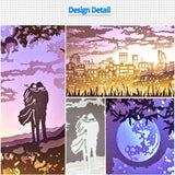 Share to Get 50% OFF ! Best Diy Project and Discount for Stay-at-home - Printed Pattern Template Files of Papercut Light Boxes,928,Lover 2