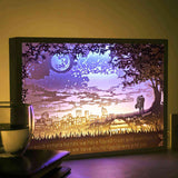 Vibes Genius 928US Papercut Light Boxes, Romantic Lover Valentines Day Love Style, Unique Birthday Gift Ideas for Girlfriend, Boyfriend, Wife, Husband, Young Women or Men, Her or Him