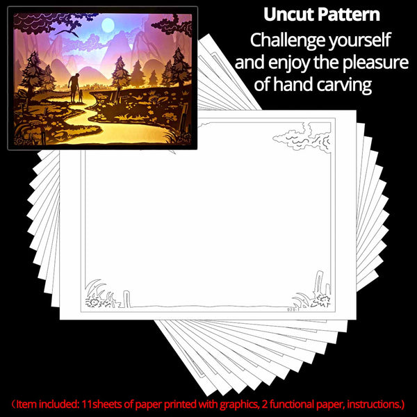 Share to Get 50% OFF ! Best Diy Project and Discount for Stay-at-home - Printed Pattern Template Files of Papercut Light Boxes,929,Me and my Father