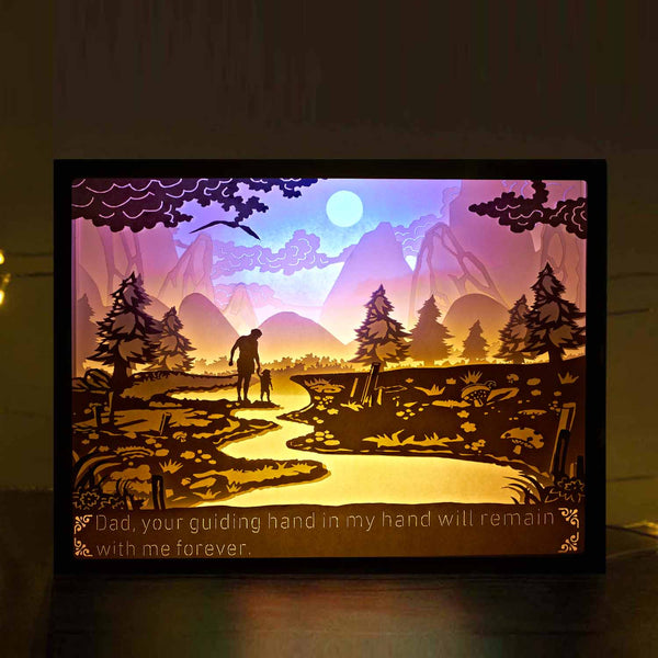 Vibes Genius 929US Papercut Light Boxes, Father's Day Father Birthday Gift Style, Unique Birthday Gift Ideas for Papa, Dad