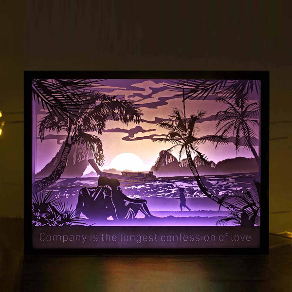 Vibes Genius 931US Papercut Light Boxes, Decor Light of Harmonious Family Style, Anniversary Gift Ideas for Husband, Wife, Parents, Couples, Funny Housewarming Gifts for New Home