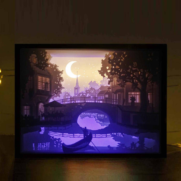 Papercut Light Boxes - A quiet little town