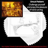 Uncut Printed Pattern for DIY Papercut Light Boxes-943