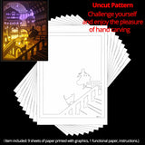 Share to Get 50% OFF ! Best Diy Project and Discount for Stay-at-home - Printed Pattern Template Files of Papercut Light Boxes,944,Princess And Her Cat In Palace