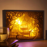 Papercut Light Boxes - The ancient building under the water