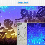Share to Get 50% OFF ! Best Diy Project and Discount for Stay-at-home - Printed Pattern Template Files of Papercut Light Boxes,961,Two cats