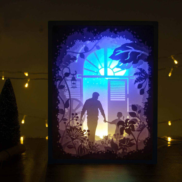 Papercut Light Boxes - My father