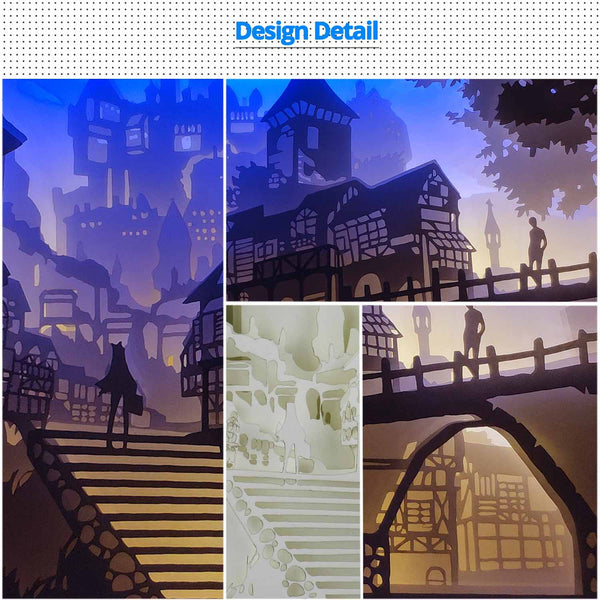 Papercut Light Boxes - The castle