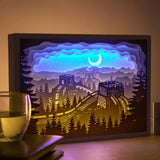 Papercut Light Boxes - The Great Wall of China