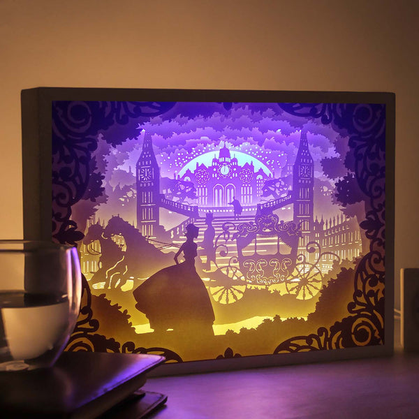 Papercut Light Boxes - Cinderella