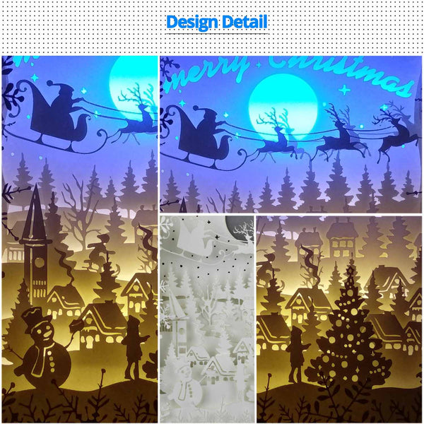 Share to Get 50% OFF ! Best Diy Project and Discount for Stay-at-home - Printed Pattern Template Files of Papercut Light Boxes,971,Christmas