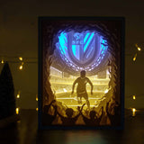 Papercut Light Boxes - Soccer