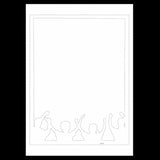 Uncut Printed Pattern for DIY Papercut Light Boxes-973