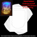 Share to Get 50% OFF ! Best Diy Project and Discount for Stay-at-home - Printed Pattern Template Files of Papercut Light Boxes,974,The Dragon attacked the castle
