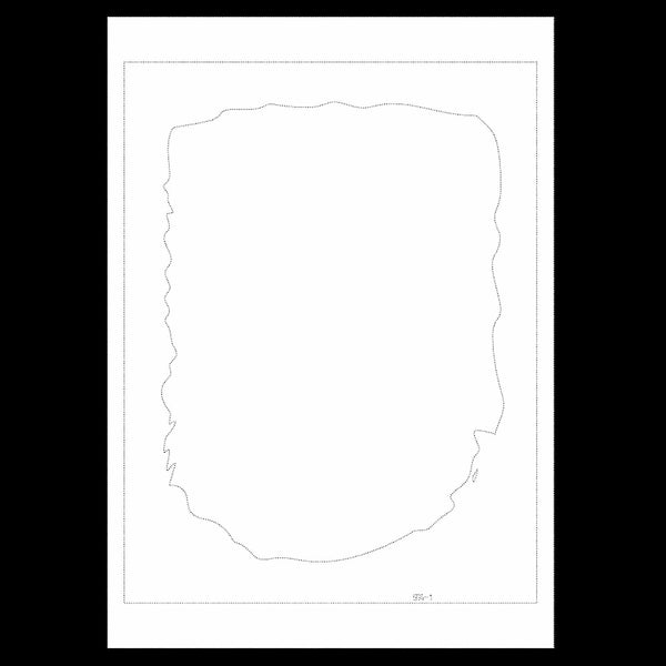 Uncut Printed Pattern for DIY Papercut Light Boxes-974