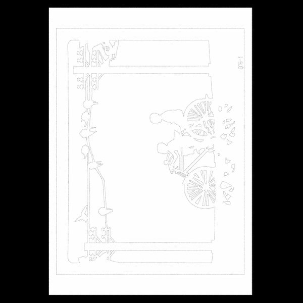 Uncut Printed Pattern for DIY Papercut Light Boxes-975