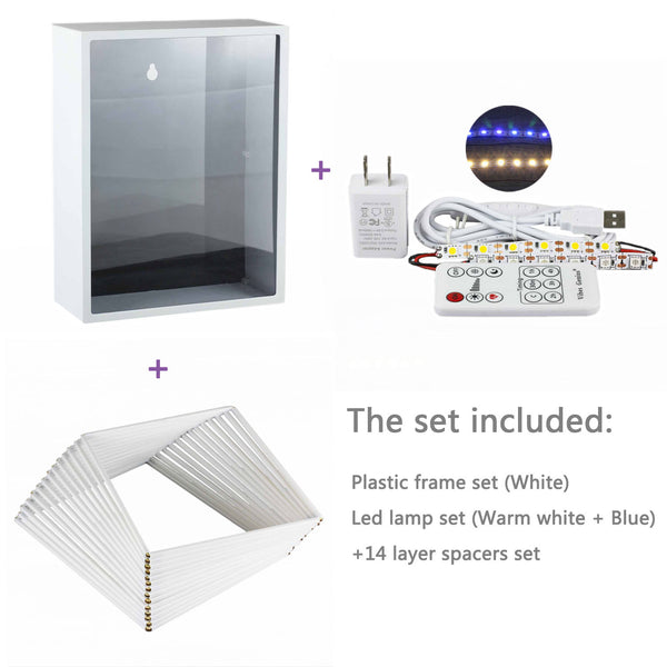 Double Color LED Lamp, Plastic Frame and Spacers Set