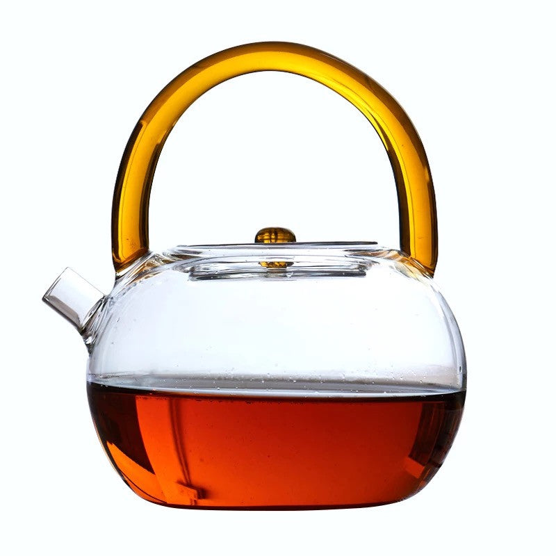 TA-Modern Glass Tea Kettle (Red)