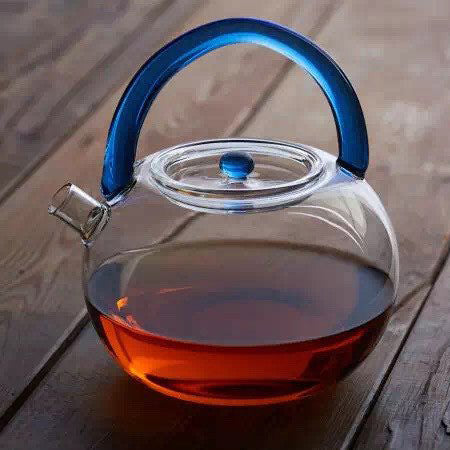 TA-Modern Glass Tea Kettle (Blue)