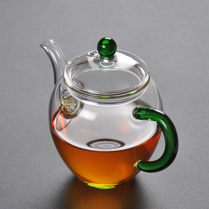 TA-Glass Tea Pot (Green)