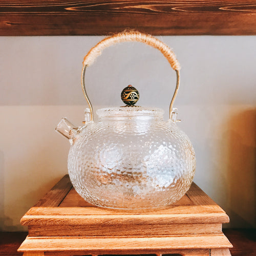 Lychee Pattern Glass Tea Kettle