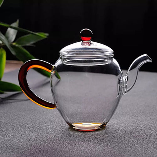 TA-Glass Tea Pot  (Amber)