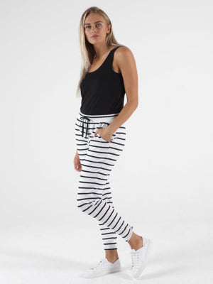 Relaxed Fit Pants : Heidi : by Betty Basics : Stripe