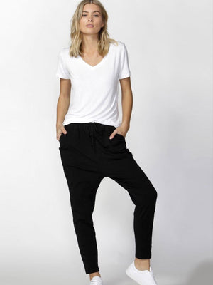 Jade Relaxed Fit Pants by Betty Basics : Black