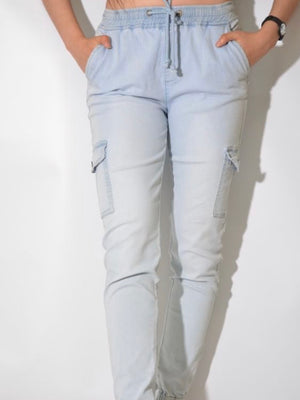 Jersey Joggers : Light Blue Chambray (2 for $90)