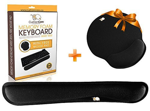 CushionCare Keyboard Wrist Rest Pad - Mouse Pad Included