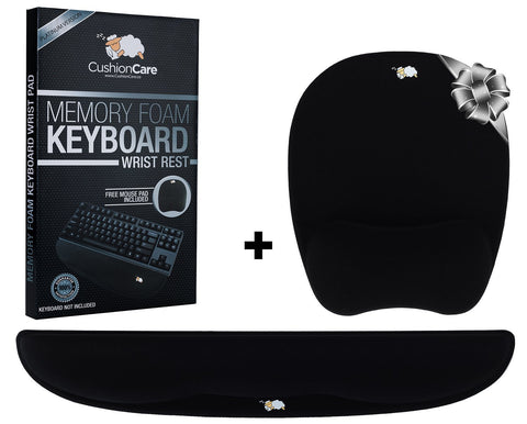 Ergonomic Mousepad and Keyboard Wrist Rest Support Set for Office, Computer, Laptop, Ipad, Trackpad & Mac