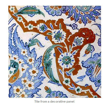 Tile from a decorative panel
