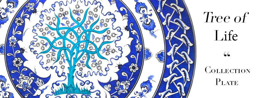 iznik tree of life plate