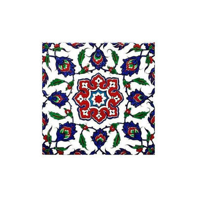 Iznik tile Flowers and Saz Leaves
