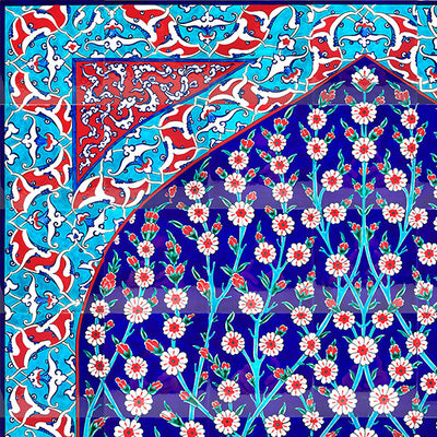 Iznik Tile Panel | Tree of Life 140x180 cm