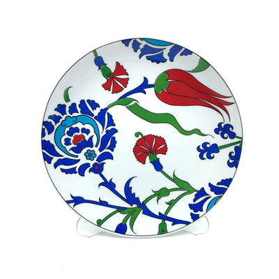 Iznik Porcelain Plate | Tulip and Carnation