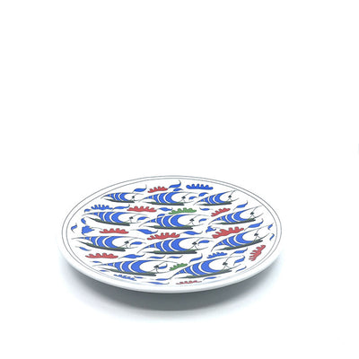 Iznik Porcelain Plate Galleon Design